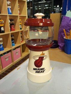 Miami Heat. Order yours today. Visit Julie's Kraft Shack @ https://www.facebook.com/JuliesKraftShack