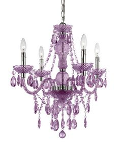Loving this Purple Naples Four-Bulb Chandelier on #zulily! #zulilyfinds  $69.99