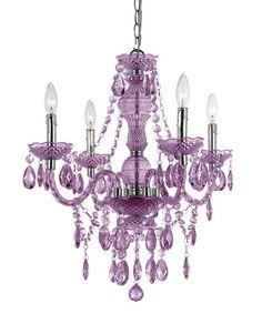Look what I found on #zulily! Purple Naples Four-Bulb Chandelier #zulilyfinds