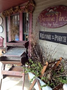 Love the porch sign