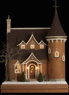 teresa layman gingerbread home for Chicago International Miniature Show