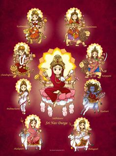 "All Glories to illusionary Energy of Sri Shyam Sunder, 🍁""Durga Devi - दुर्गा देवी ""🍁 जननी है वो, तो वो ही काली दर पे उसके ना रेहता किसी… Saraswati Goddess, Kali Goddess, Durga Maa, Goddess Art, Hanuman, Cute Krishna, Radha Krishna Photo, Krishna Art, Shiva Parvati Images"