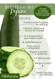 Beneficios del pepino #salud
