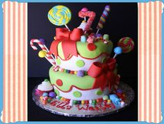 Lily's first birthday- Holly Jolly Christmas Candy Birthday Cake! This cake is a splash of Candyland. lots of Christmas joy. and just plain FUN! Click over for LOTS of pics and details! Christmas Birthday Cake, Candy Birthday Cakes, Christmas Candy, Christmas Recipes, Cupcakes, Cupcake Cakes, Birthday Cakes Delivered, Birthday Cake Decorating, Cake Images
