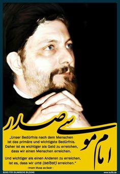 Sayid Musa as-Sadr: Wichtiger als Geld zu erreichen, ist, dass wir einen Menschen erreichen!