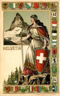Helvetia est une figure allégorique féminine personnifiant la Confédération suisse. Ce nom désigne également la Suisse, notamment sur les timbre-poste.
