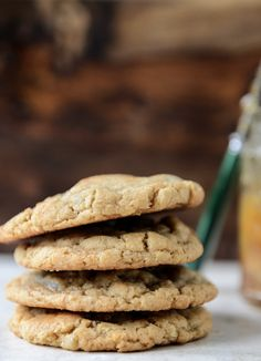 Peanut Butter Cookies with a Fig Preserves Swirl | howsweeteats.com