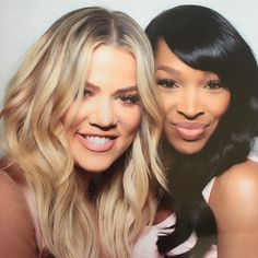 We're best friends!! We're happy! We're singing! And she's colored!  (Malika wrote this caption) give me a high five!!! #khloe #kardashians