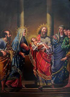 La presentación del Niño Jesús en el Templo