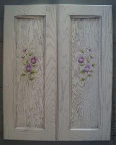 Купить Мебель с росписью. Роспись фасадов шкафчика - авторская роспись, роспись мебели, роспись