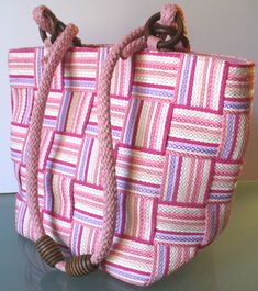 Made in Italy M & G Bertini Woven Tote Bag by EurotrashItaly on Etsy
