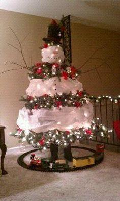 Snowman Christmas Tree!! | Christmas Decorations I've Made ...