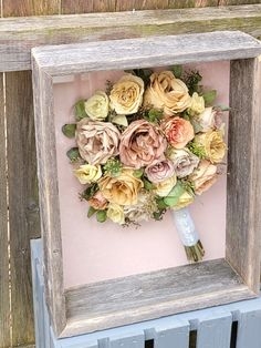 Wedding bouquet recreation at its finest! #floralpreservation #bouquetpreservation #weddingflowers #bridalbouquet #leighflorist #floralart #weddingbouquet Wedding Bouquets, Wedding Flowers, Custom Shadow Box, How To Preserve Flowers, Box Design, Preserves, Pretty In Pink, Floral Wreath, Invitations