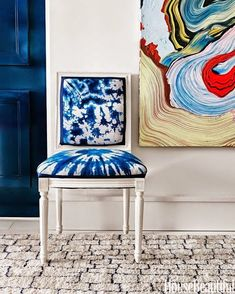 I've never really been into tie dye that much.  It's always evoked images of multi-colored t-shirts from the 1970's for me, and not in a good way.  Then this summer I was working with a local client on some updates for her living room and she showed me this photo from House Beautiful. It was...Read More »