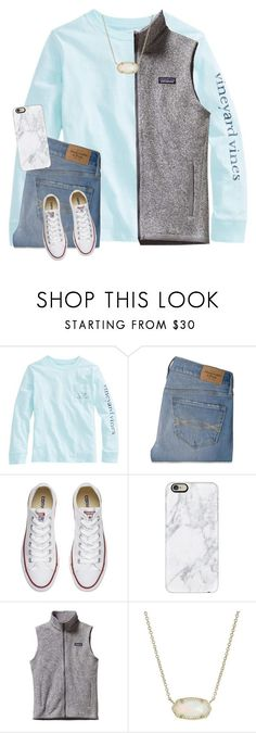 """Untitled #91"" by ellienoonan ❤ liked on Polyvore featuring Abercrombie & Fitch, Converse, Casetify, Patagonia and Kendra Scott"