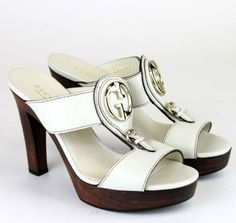 """Gucci """"1973"""" Leather Platform Clog 36.5/6.5 287197 New White Sandals. Get the must-have sandals of this season! These Gucci """"1973"""" Leather Platform Clog 36.5/6.5 287197 New White Sandals are a top 10 member favorite on Tradesy. Save on yours before they're sold out!"""