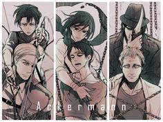 Yoimosezu, Shingeki no Kyojin, Levi, Kenny Ackerman, Mikasa Ackerman, Erwin Smith