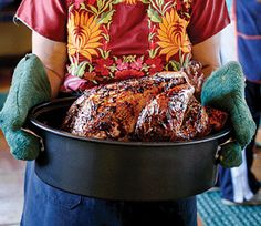 Chile-Rubbed Roast Turkey Recipe - Saveur.com -  Going to try with chicken, roasted with onions, peppers and jalapenos