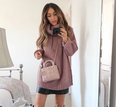 Lydia Elise Millen Acne sweater Lady Dior bag pink