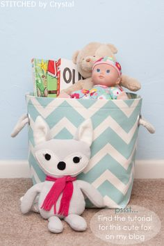 DIY Fabric Storage Basket...with handles!