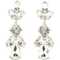 Kate Spade New York Crystal Petals - Bridal Drop Earrings ($98) ❤ liked on Polyvore