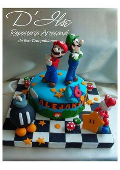 (1) TORTAS DECORADAS INFANTILES - De niños Video Game Cakes, Video Games, Mario Bros Cake, Beautiful Cupcakes, Mario Party, Cupcake Cakes, Cup Cakes, Fancy Cakes, Cake Art