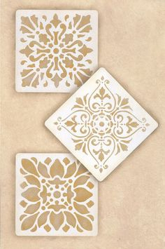 Summer Theme  Stencils | Renaissance Tile Stencils 1 | Royal Design Studio
