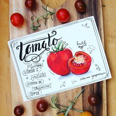 Tomato inpiring artwork, copicart Fruits And Veggies, Vegetables, Delicious Fruit, Vitamin C, Inspire Me, Healthy Lifestyle, Canning, Artist, Artwork