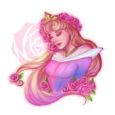 Briar Rose by Pincca on DeviantArt Arte Disney, Disney Fan Art, Disney Pixar, Disney Characters, Disney Princesses, Sleeping Beauty 1959, Disney Sleeping Beauty, Princess Drawings, Princess Art