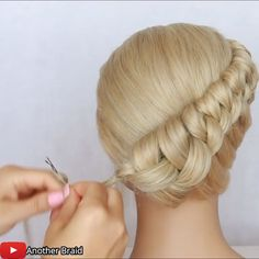 Short Hair Updo, Easy Hairstyles For Long Hair, Braided Hairstyles Tutorials, Curly Bridal Hair, Classy Hairstyles, Bride Hairstyles, Military Hairstyles, Cute Girls Hairstyles, Hair Movie