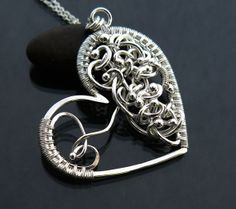 Always in my heart Large  Heart pendant  Memory by atelierblaauw, $153.50