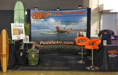 The PaddleAir booth at The Boardroom at the Orange County Event and Expo Center in October 2013, We'll be at  The Boardroom Surf Expo in Del Mar, Saturday and Sunday, May 17 and 18, 2014.