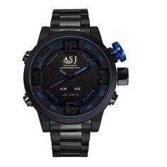 Top Brand Men Gold Watch Waterproof Men Full Steel Gold Mens Sport Quartz-Watch Military Army Male Watches Relogio Masculino