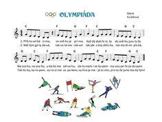 Kids Songs, Winter Sports, Music Notes, Sporty, Sheet Music, Kindergarten, Musica, Winter Olympics, Songs For Children