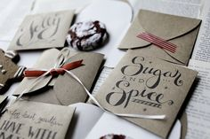 Cookie Envelopes, for just the right amount of sweetness....