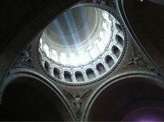 Light in Sacre Coeur dome, Paris