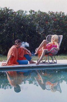 Brigitte Bardot & then husband Gunter Sachs circa 1967