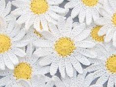 6 Large Handmade Crochet Shasta Daisy от twpmango на Etsy, $4.95
