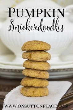 Pumpkin Snickerdoodle Cookies | On Sutton Place