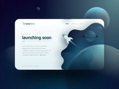 Launching Soon flying blue gradient planet stars shuttle card lunar web moon space ui Cool Web Design, Web Ui Design, Page Design, Design Trends, Web Layout, Layout Design, Font Design, Website Design Inspiration, Graphic Design Inspiration