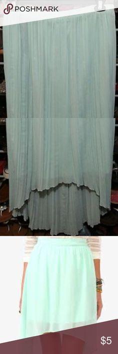 Mint High-Low skirt Mint blue high-low skirt size L Mudd Skirts High Low