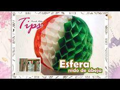 BOLA/ESFERA Nido de Abeja | Fiesta Mexicana | 15 de Septiembre | DIY Esperas de papel - YouTube