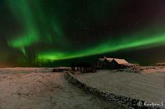 Aurora Borealis... Norðurljós, 13 Jan 2013, Hafnarfjordur, Iceland.
