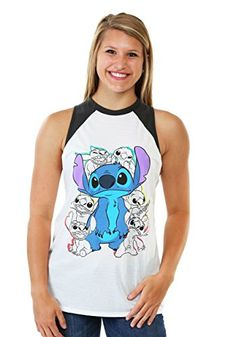 Lilo and Stitch Sketch Raglan Shirt - $20 - Disney Summer Outfit Ideas - http://amzn.to/29BZhTd