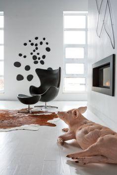 Déco audacieuse dans un loft façon galerie d'art contemporain | Décormag
