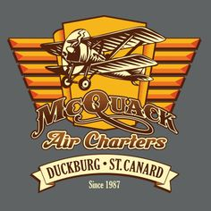 MCQUACK AIR CHARTERS T-Shirt $10 DuckTales tee at ShirtPunch today only!
