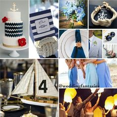Nautical themed wedding (: