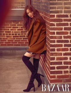 Apink Naeun, Korean Girl, Blazer, Boots, Pretty, Sweaters, Jackets, Dresses, Style