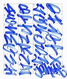Graffiti Letters: 61 Graffiti Artists Share Their Style Bomb Science . Grafitti Letters, Graffiti Lettering Alphabet, Tattoo Lettering Fonts, Lettering Styles, Hand Lettering, Calligraphy Alphabet, Islamic Calligraphy, Tag Alphabet, Graffiti Drawing