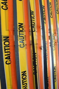 Construction Birthday Party, Caution Tape Streamers Wall, Decorations